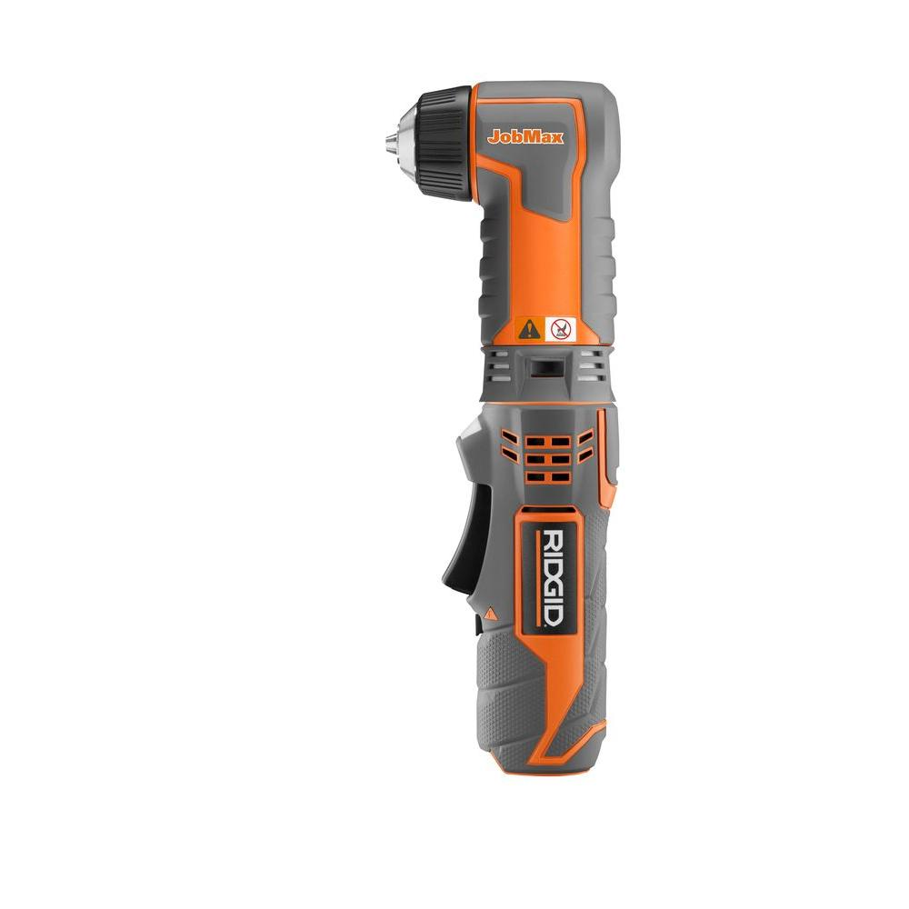 RIDGID JobMax 12-Volt Lithium-Ion Right Angle Cordless Drill (Tool Only)