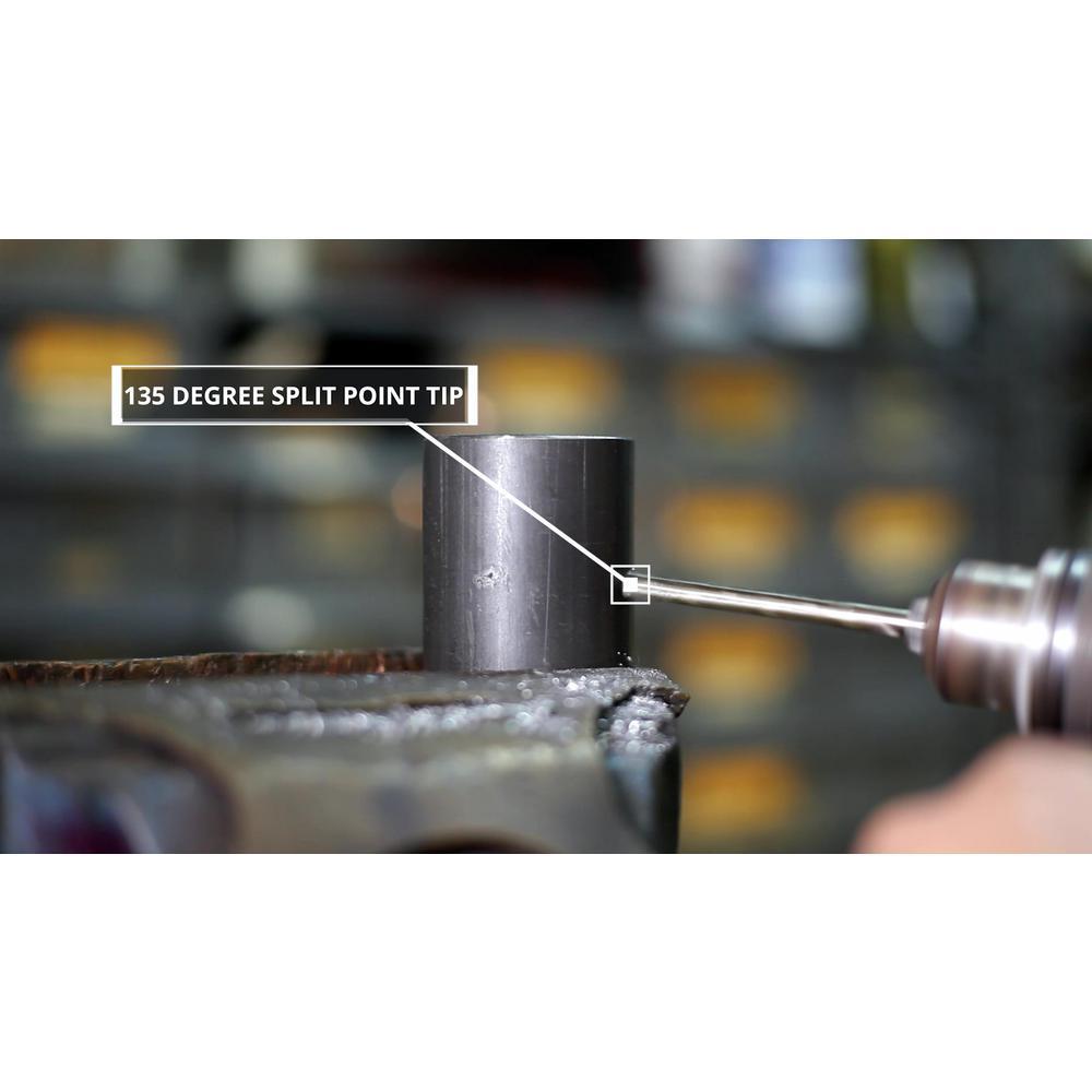 D//ASTCO Series Pack of 12 Drill America #38 Cobalt Heavy Duty Split Point Stub Drill Bit