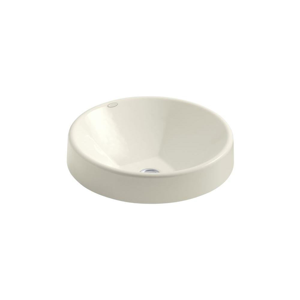 Inscribe Drop-In Cast Iron Bathroom Sink in Biscuit