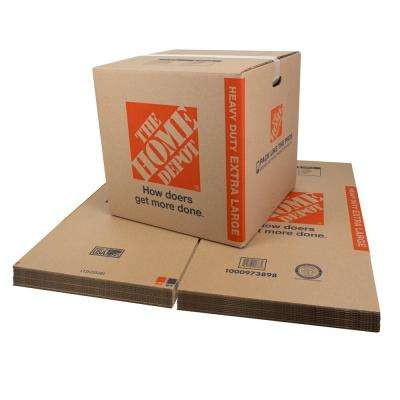 Heavy-Duty Extra-Large Moving Box with Handles 10-Pack (22 in. L x 22 in. W x 21 in. D)