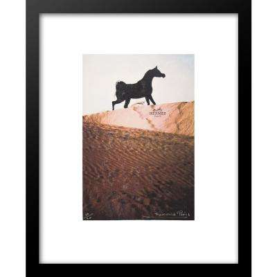 """30 in x 24 in"" ""Arabian Horse"" Hermes Ad by Fairchild Paris Framed Printed Wall Art"