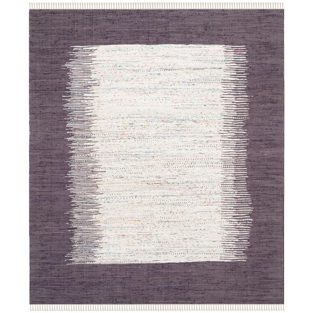 Montauk Ivory/Purple 9 ft. x 12 ft. Area Rug