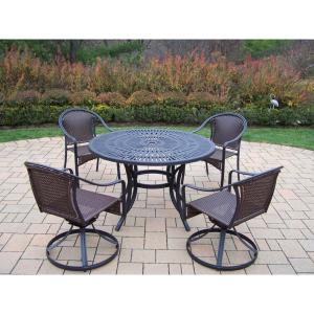 Click here to buy  Sunray Tuscany 5-Piece Aluminum Outdoor Dining Set.