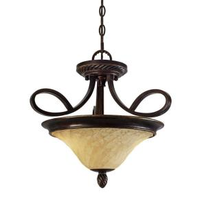 Torbellino Collection 2-Light Cordoban Bronze Semi-Flush Mount/Pendant Convertible