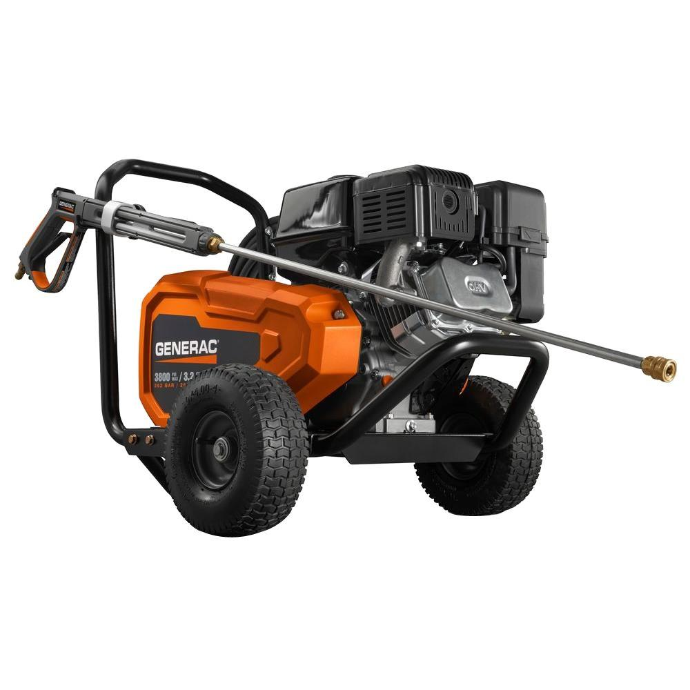 Generac 3,800 PSI 3.2 GPM Belt Drive Pro Power Gas Pressure Washer