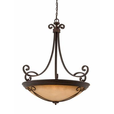 Charry 10-Light Bronze Pendant