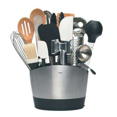 Good Grips Brushed Stainless Steel Utensil Holder