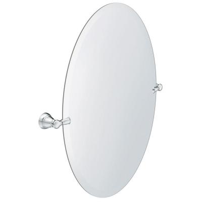 Banbury 23 in. x 26 in. Frameless Pivoting Single Wall Mirror in Chrome