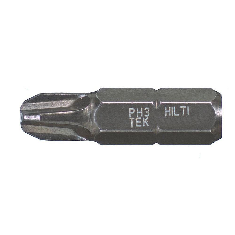 #3 Steel Philips Head TEK Insert Bits (10-Pack)