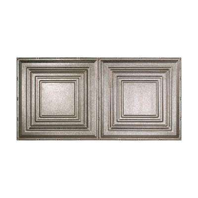 Traditional 3 - 2 ft. x 4 ft. Glue-up Ceiling Tile in Galvanized Steel