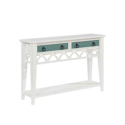 Chelsea White Console with Reversible Drawer Fronts
