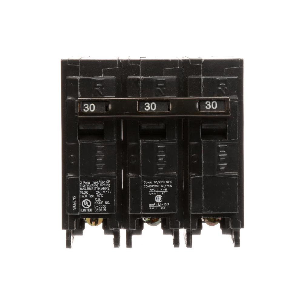 siemens 3 pole breakers q330 64_1000 siemens 30 amp 3 pole type qp circuit breaker q330 the home depot