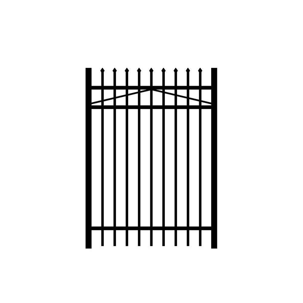 Jerith Washington 4 ft. W x 5 ft. H Black Aluminum 3-Rail Fence Gate