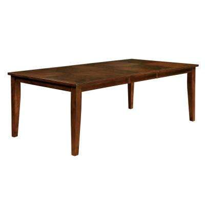 Hillsview I 78 in. Brown Cherry Transitional Style Dining Table