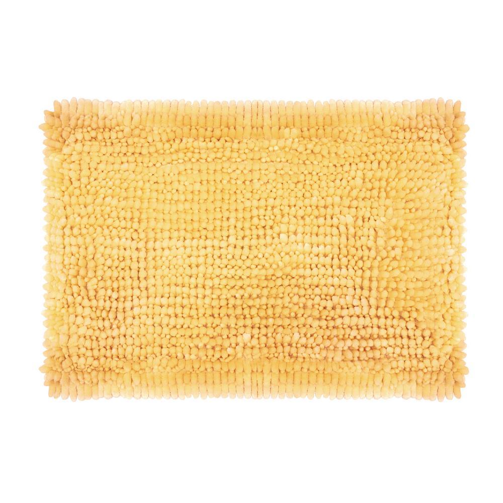 Laura Ashley Er Chenille 17 In X 24 Bath Mat Yellow