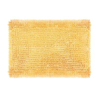 Butter Chenille 17 in. x 24 in. Bath Mat in Yellow
