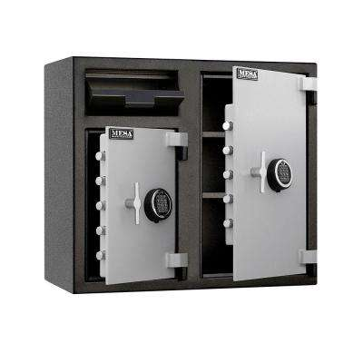 6.7 cu. ft. All Steel Depository Safe with Two Electronic Locks in 2-Tone, Black and Grey