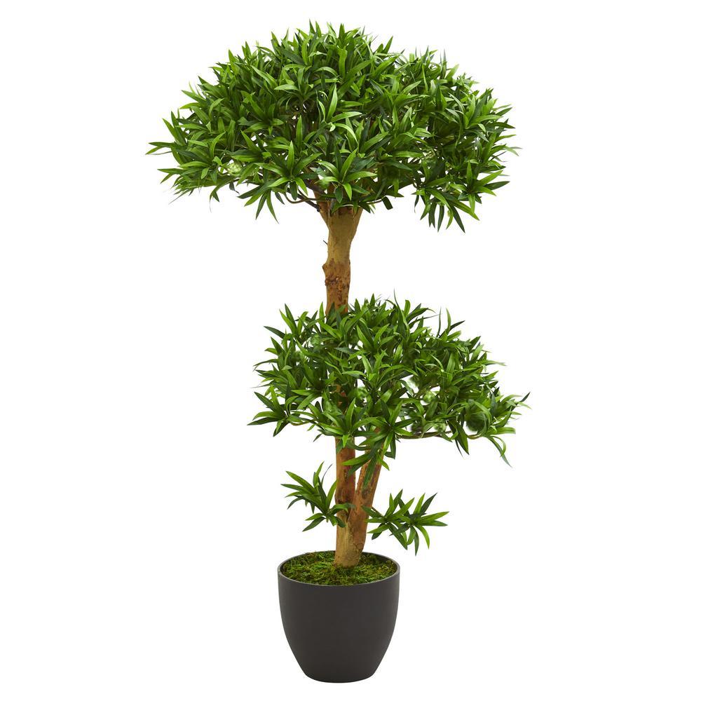 Indoor 3 ft. Bonsai Styled Podocarpus Artificial Tree