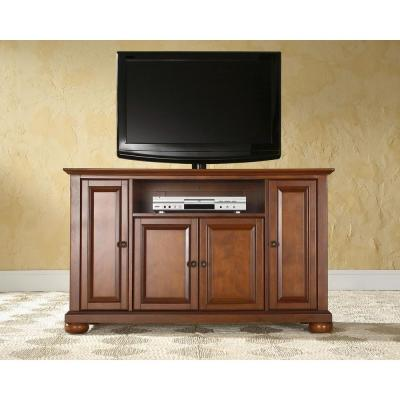 Alexandria 48 in. Cherry Wood TV Stand Fits TVs Up to 50 in. with Storage Doors
