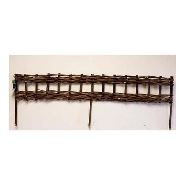 4 ft. Woven Willow Edging with Vertical Cross Sections Pattern (2-Pieces)