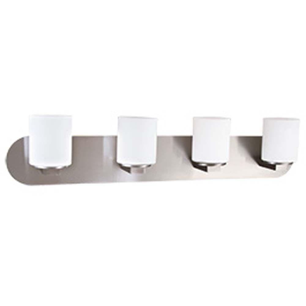 Filament Design Spectra 4-Light Chrome Incandescent Wall Vanity