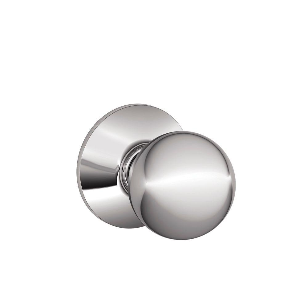Schlage Orbit Bright Chrome Hall and Closet Knob