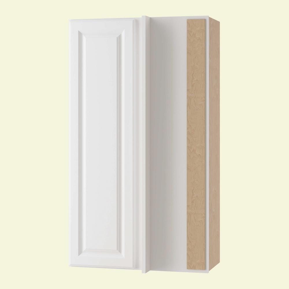 Hallmark Assembled 24x42x12 in. Wall Blind Corner Kitchen Cabinet Left Hand
