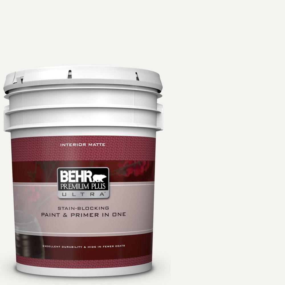 Behr Premium Plus Ultra 5 Gal Pwn 10 Decorator White Matte Interior Paint