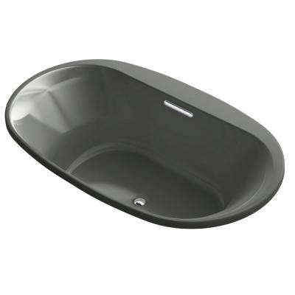 Underscore 6 ft. Acrylic Oval Drop-In Non-Whirlpool Bathtub in Biscuit