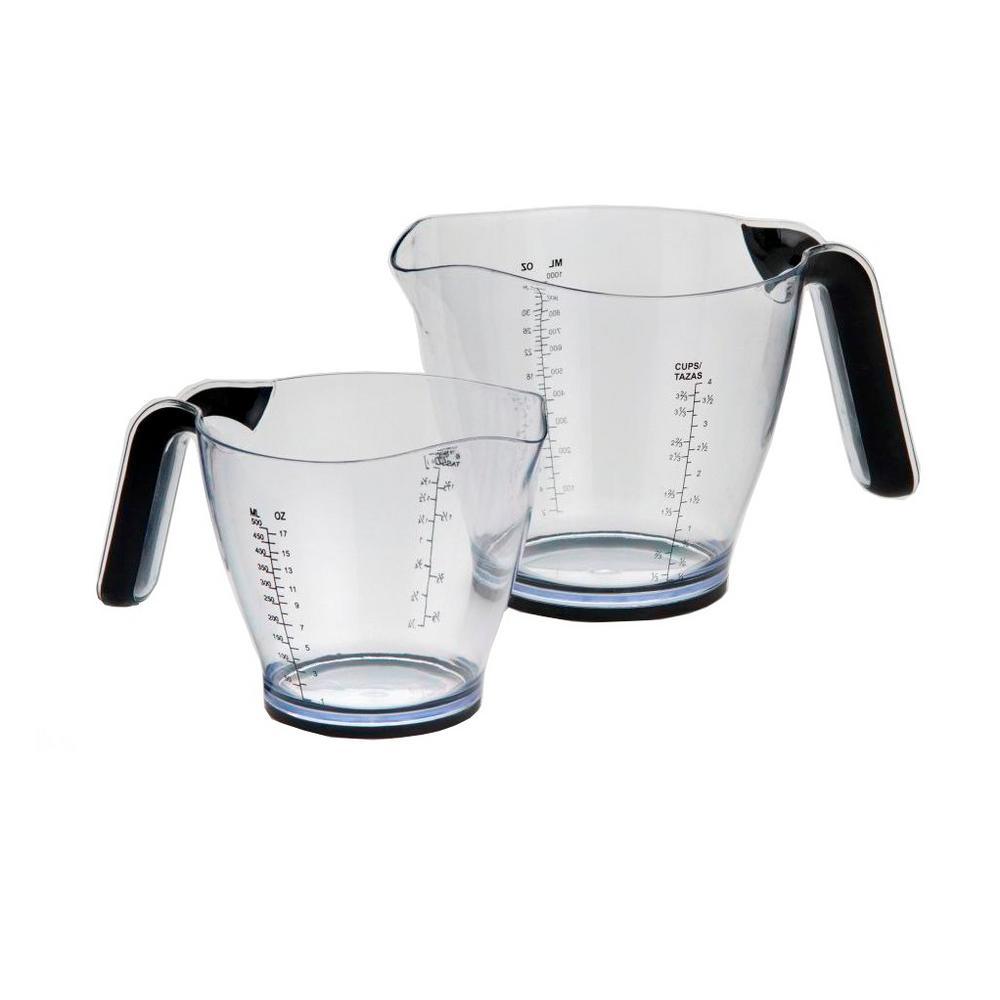 2-Piece Measuring Cup Set with Non-Slip Handles