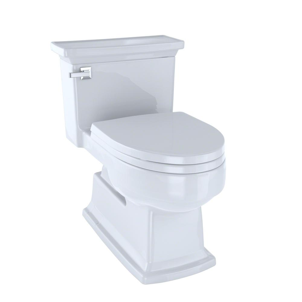 TOTO Eco Lloyd 1 Piece 128 GPF Single Flush Elongated Skirted Toilet In Cotton White