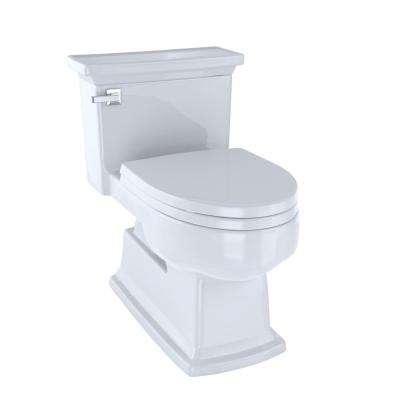 Eco Lloyd 1-Piece 1.28 GPF Single Flush Elongated Skirted Toilet in Cotton White