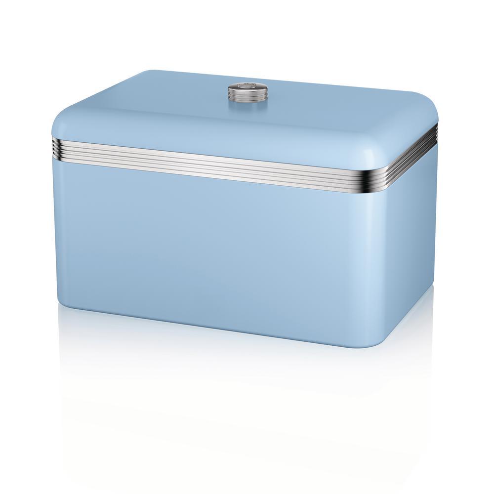 Retro Blue Bread Bin