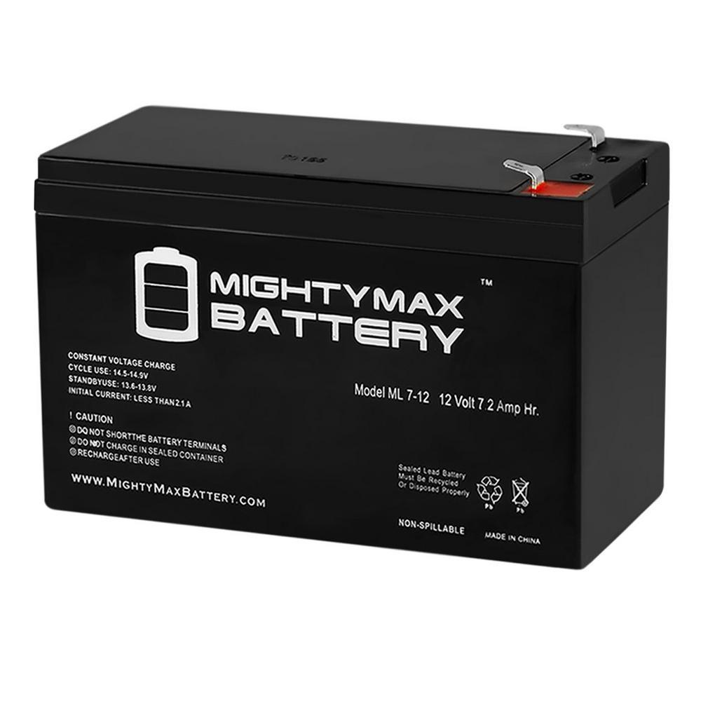 12-Volt 7.2 Ah Sealed Lead Acid (SLA) Battery Includes 12-Volt Charger