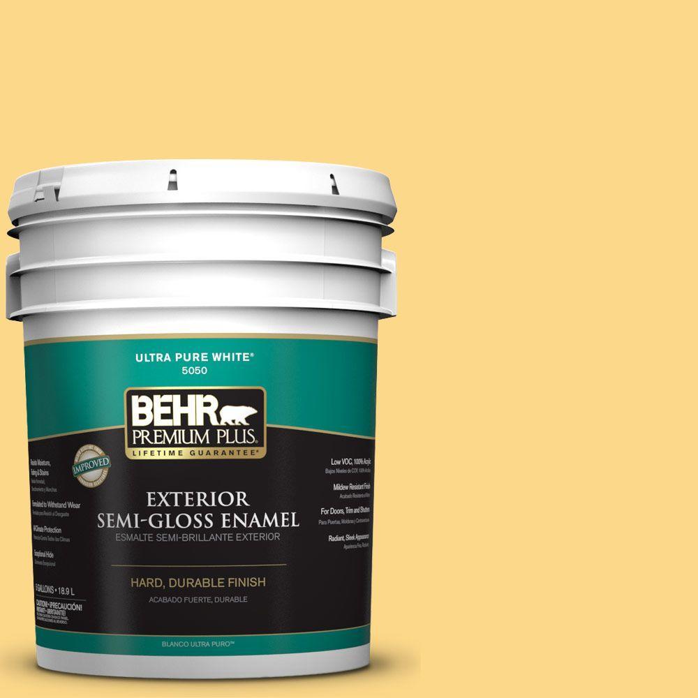 5-gal. #P280-4 Surfboard Yellow Semi-Gloss Enamel Exterior Paint