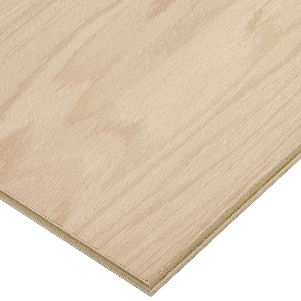 Columbia Forest Products 3 4 In X 4 Ft X 8 Ft B 2 Red Oak