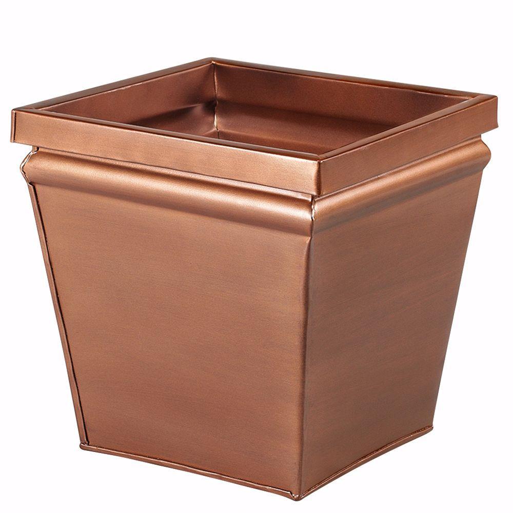 Home Decorators Collection 12 in. Aged Copper Finish Square Planter