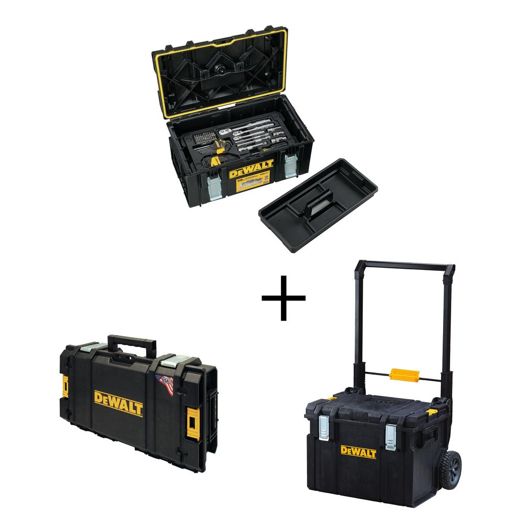 DEWALT Mechanics Tool Set (226-Piece) with ToughSystem 22 in. Large Tool Box w/ Bonus 22 in. 17 Gal. Mobile Tool Box & Tool Box was $335.0 now $229.0 (32.0% off)