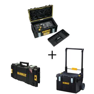 Mechanics Tool Set (226-Piece) with TOUGHSYSTEM 22 in. Medium Tool Box w/ Bonus 22 in. Mobile Tool Box & Small Tool Box