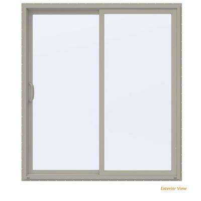 72 in. x 80 in. V-4500 Contemporary Desert Sand Vinyl Left-Hand Full Lite Sliding Patio Door