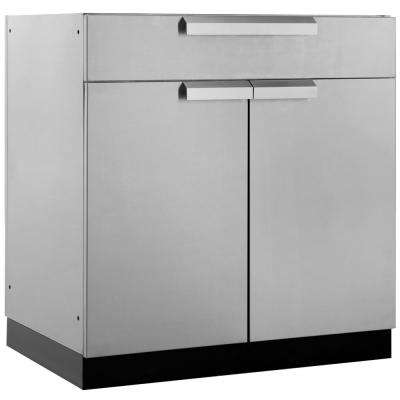 Stainless Steel Classic 32 in. Bar 32x33.5x23 in. Outdoor Kitchen Cabinet