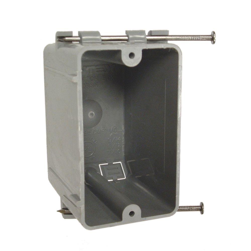 RACO Single Gang Rectangular Non-Metallic Cable Box, 2-3/4 in. Deep ...
