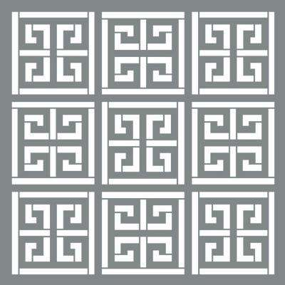 Americana Decor 6 in. x 6 in. Greek Key Stencil