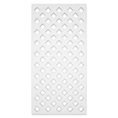 Privacy Diamond 2 ft. x 4 ft. White Vinyl Decorative Screen Panel (Pack of 2)