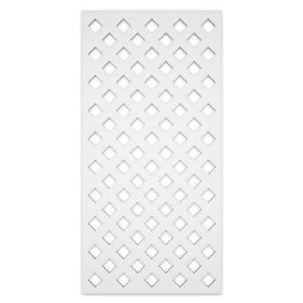 Privacy Diamond 2 ft. x 4 ft. White Vinyl Decorative Screen Panel (Pack of 2)