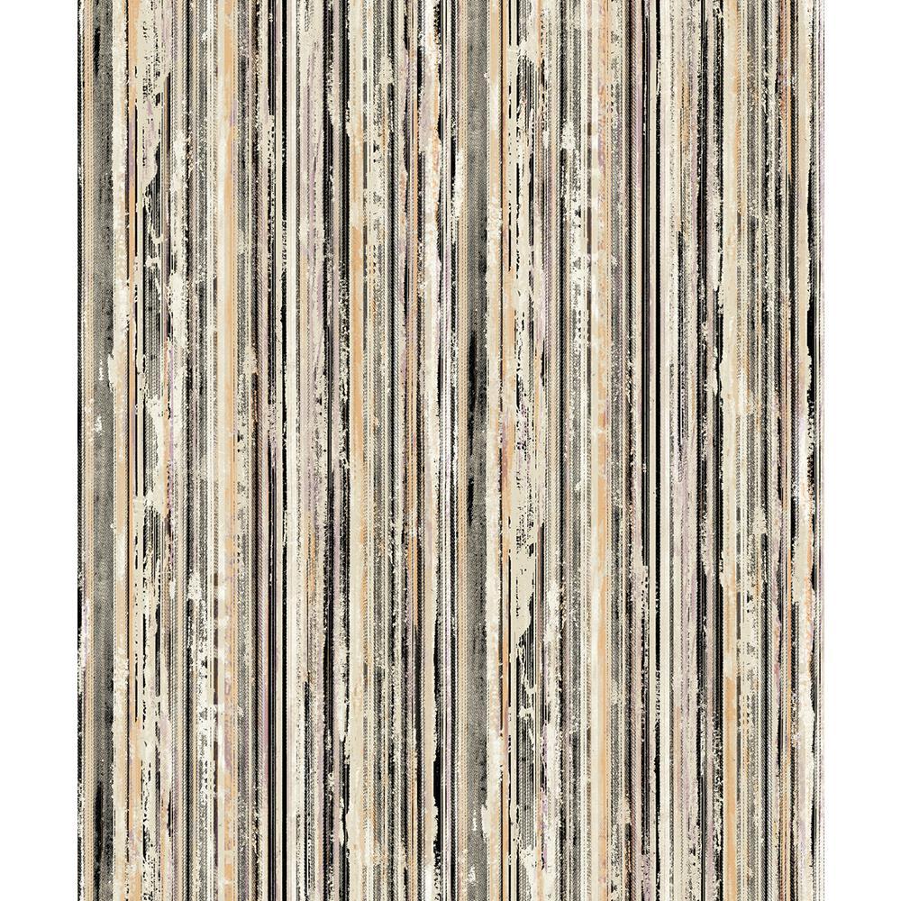 8 in. x 10 in. Savanna Multicolor Stripe Wallpaper Sample