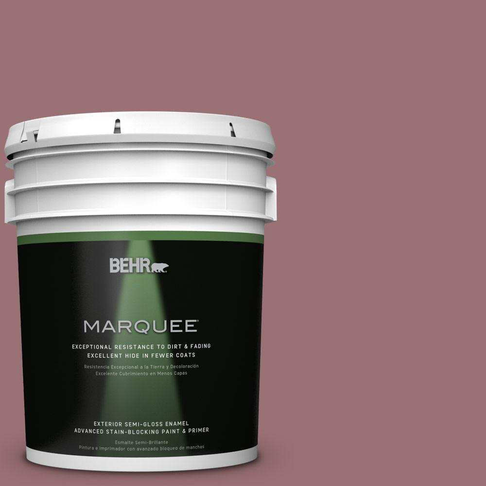 BEHR MARQUEE 5-gal. #QE-05 Regal Rose Semi-Gloss Enamel Exterior Paint