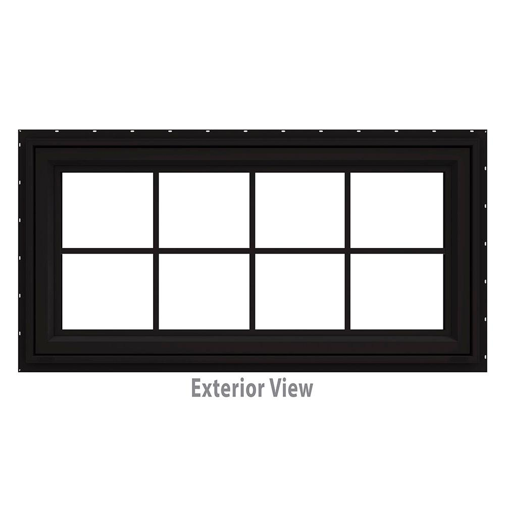 47.5 in. x 29.5 in. V-4500 Series Black Painted Vinyl Awning