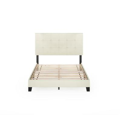 Laval Linen Full Button Tufted Bed Frame