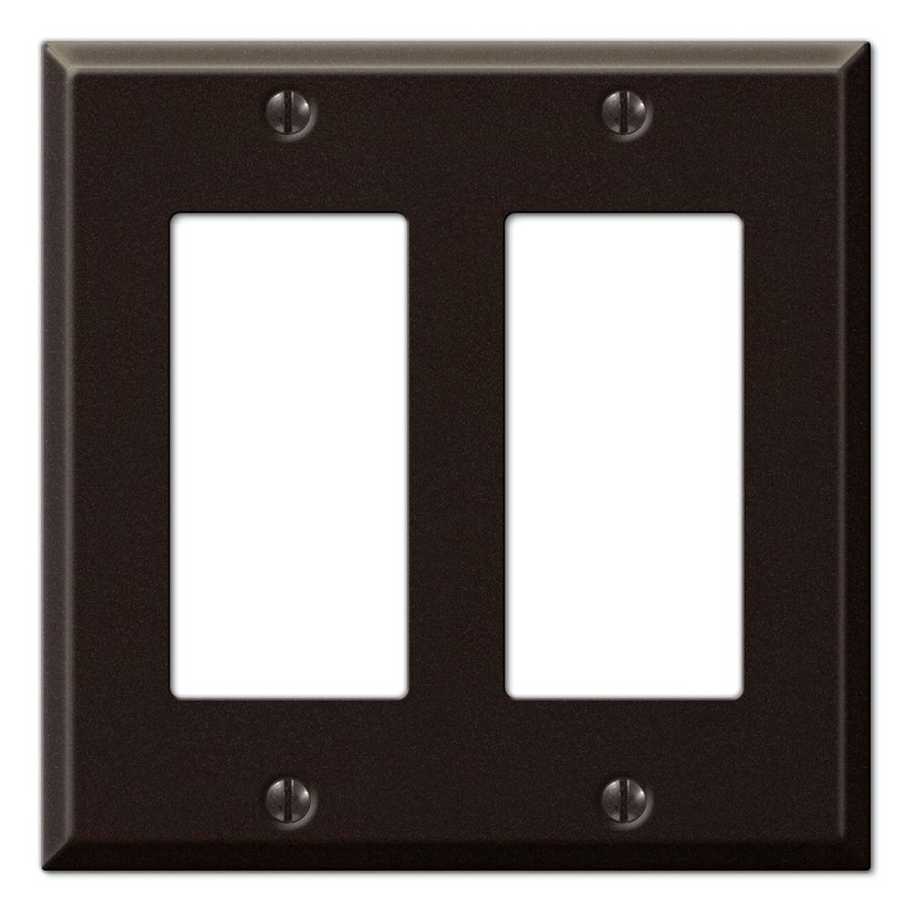 Creative Accents Steel 2 Decora Wall Plate - Antique Bronze